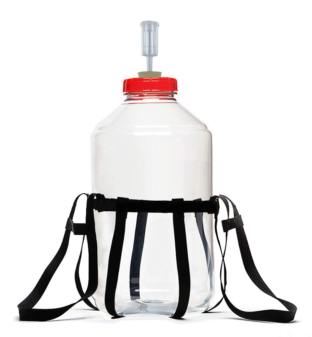 Fermonster Carboy Carrier, 7 Gal Fermonster Carboy, 10 Stopper, And Econolock Airlock