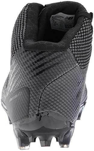 Men's Mid New Lacrosse Shoes Black Burn Balance C4UU8