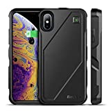 iPhone Xs/X Battery Charger Case Qi Wireless Charging Case, EasyAcc 5000mAh Rechargeable Charging Shell Extended Full Protection Charger Case for iPhone XS/X/10