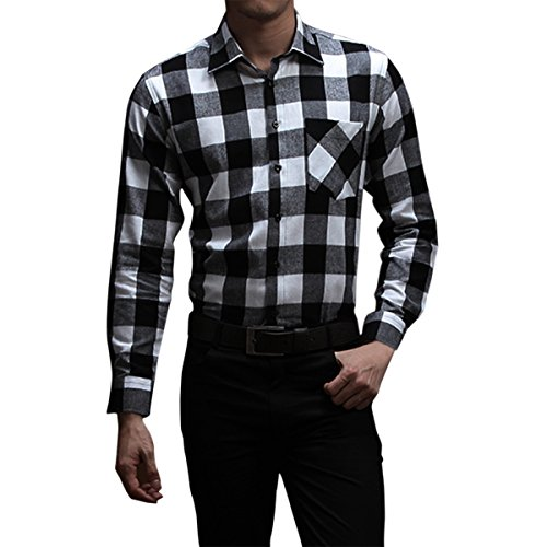 Black And White Flannel Shirt - 5