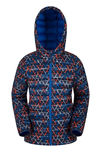 Boys Padded Seasons Mountain Jacket Blue Dark Warehouse Printed 1w4xq8tB