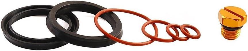 -Aluminum Bautopart Fuel Filter Seal Rebuild Kit and Bleeder Screw for 2001-2010 GM Duramax Fuel Filter Housing Blue