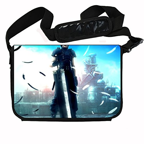 Crisis Core Final Fantasy 7 Stylish Messenger Bag Laptop Bag (15 x 11) Inches