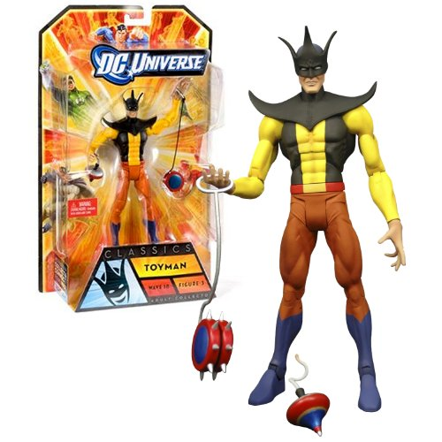 Mattel Year 2011 DC Universe Wave 18 Classics Series 7 Inch Tall Action Figure Set #3 - TOYMAN with Spintop Bomb and Spiked Yoyo Plus APACHE CHIEF's Right Arm (V2879)