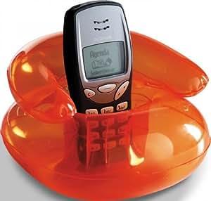 Soporte para teléfono móvil como sillón hinchable de piel para Nokia Silemens LG Samsung iphone, nuevo