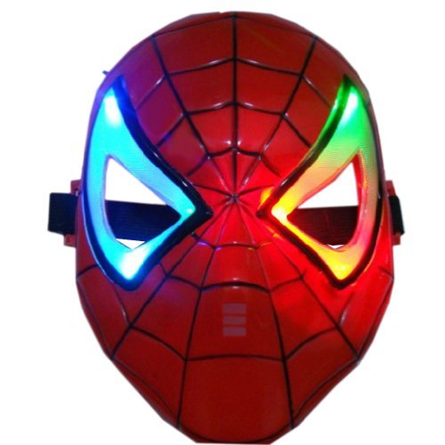 (ECOSCO Color Changing Led Flashlight Eyes Spider Man Spidey Mask)