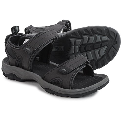Khombu+Mens+Barracuda+Sport+Sandals+Black+Size+11+M+US