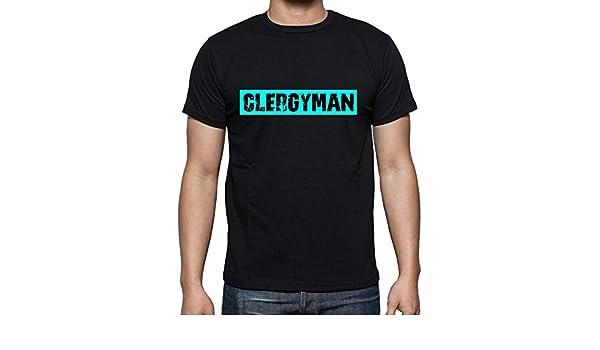Ultrabasic Clergyman Camiseta para Hombre, Cuello Redondo, Negro: Amazon.es: Ropa y accesorios