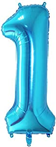 Tellpet Blue Number 1 Balloon, 40 Inch