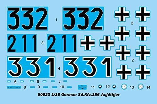"Char Allemand Sd.Kfz.186 JAGDPANZER VI /""JAGDTIGER/"" KIT TRUMPETER 1//16 n° 00923"