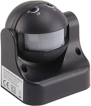 Motion//Movement Detector Sensor PIR 180 Deg Black
