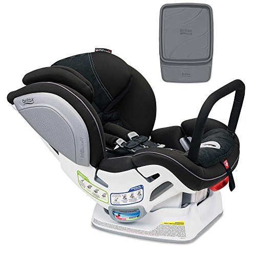 Britax Boulevard ClickTight ARB Convertible Car Seat, Circa with Vehicle Seat Protector Set