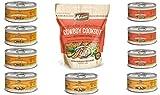 Merrick Grain Free Canned Dog Food 3 Flavor Variety Bundle (9 Cans, 3.2 Oz Ea) Plus Cowboy Cookout Kitchen Bites Dog Biscuits (1 Bag, 9 Oz) - 10 Items Total
