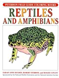 A Field Guide to Reptiles and Amphibians Coloring Book, Sarah Anne Hughes, 0395377048