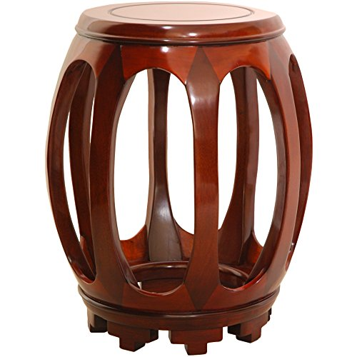 Oriental Furniture Rosewood Circular Stand - Honey -