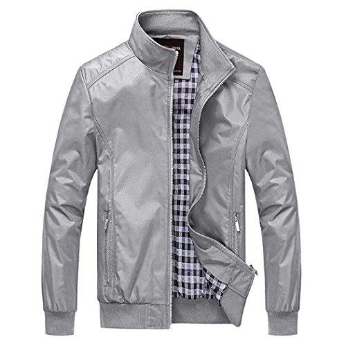 Nantersan Mens Casual Jacket Outdoor Sportswear Windbreaker Lightweight Bomber Jackets and Coats ()