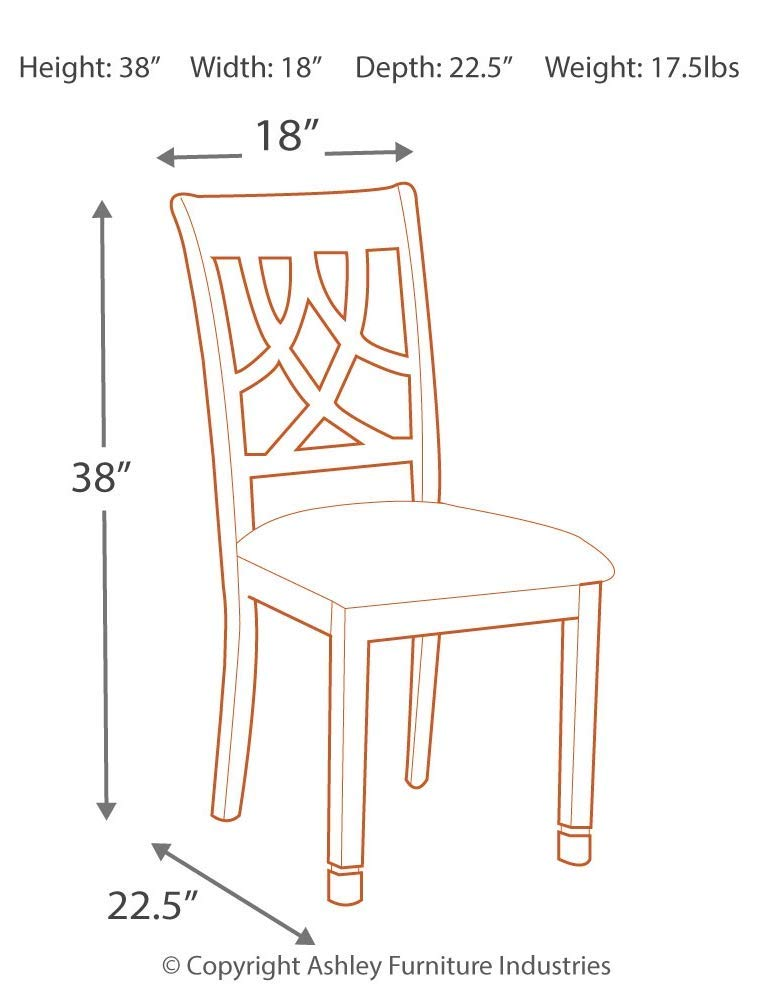 Signature Design by Ashley Furniture-Leahlyn Dining Room Chair-Set of 2-Traditional Style-Medium Brown