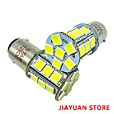bulb 1004 - BA15D 24 SMD 1157 1076 1142 68 90 1004 1130 1158 1176 1178 Car LED Bulbs Replacement for RV Camper Turn Tail Singnal Lamp, 12V DC, White, Pack of 2