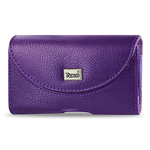 Reiko Horizontal Pouch HP146 for BlackBerry 8330 - Retail Packaging - Purple