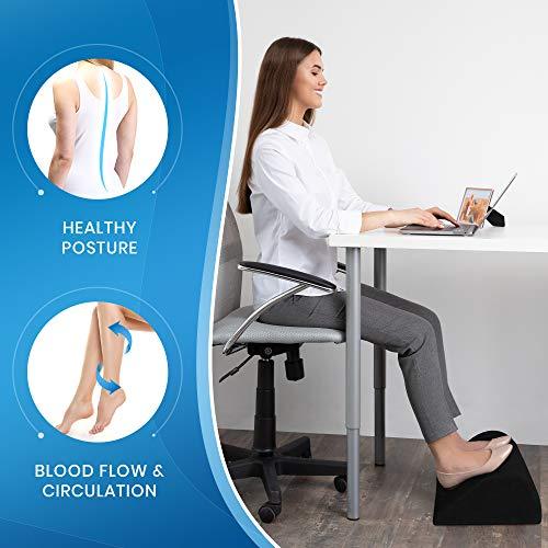 Image of Everlasting Comfort Office Foot Rest for Under Desk - Pure