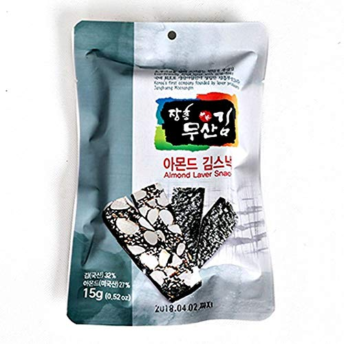Musankim Organic Seaweed Snack with Almonds 15g x 10packs by Moosankim