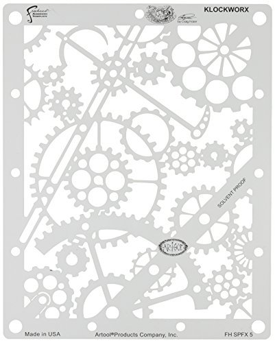 Artool Freehand Airbrush Templates, Steam Punk Fx Template - Klockworx by Iwata-Medea 3