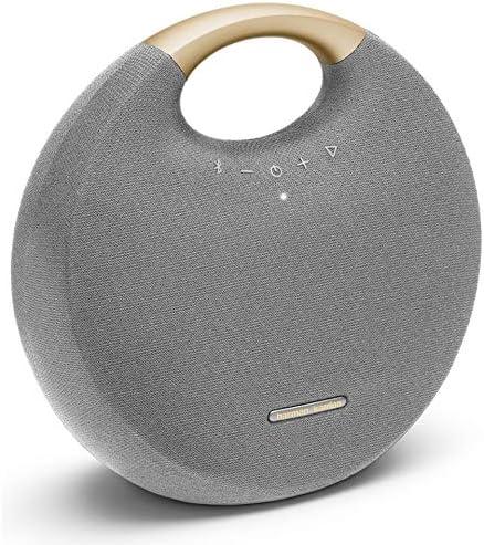 Harman Kardon Onyx Studio 6 – IPX7 Waterproof Wireless Bluetooth Speaker System w Rechargeable Battery, Built-in Microphone Grey Gold