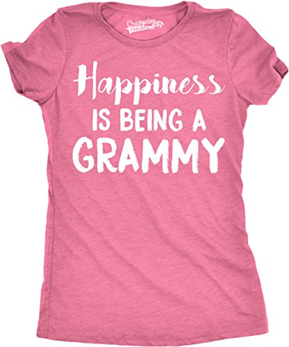 Crazy Dog T-Shirts Womens Happiness is Being a Grammy Funny Grandmother Tee for Grandma (Pink) - XL (Happiness Womens Pink T-shirt)