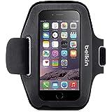 Belkin EaseFit Sport - Brazalete deportivo para Apple iPhone 6/6s (acceso completo a los puertos y conectores, material de neopreno elástico), color negro