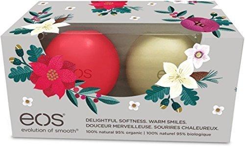 EOS Winterberry and Vanilla Bean Holiday 2016 Organic Lip Balm Sphere 2 Pack Set