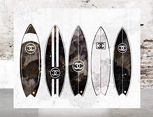 (Wall Fashion Glam Art Poster Designer Print Surfboards)