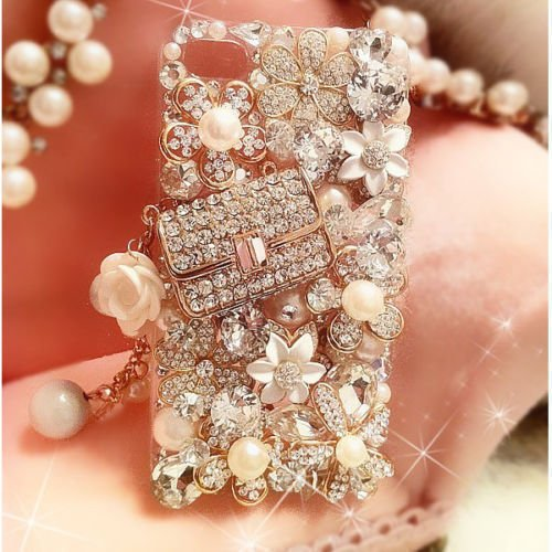 XDAYS(TM) 3D Hot Handmade Luxury Bling Jewelled Rhinestone Diamond Crystal Hard Case Cover For Smart Mobile Phones(ZTE Obsidian Z820 Phone)