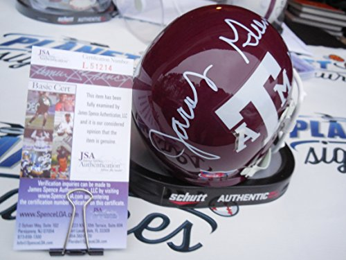 Jacob Green Signed Texas A&M Aggies Maroon Throwback Mini Helmet JSA COA
