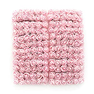 roses flower heads Artificial pink Roses Flowers DIY 144 PCS head rose flowers Wedding Bride Bouquet PE Foam DIY party festival Home Decor Rose Flowers (light pink) 97