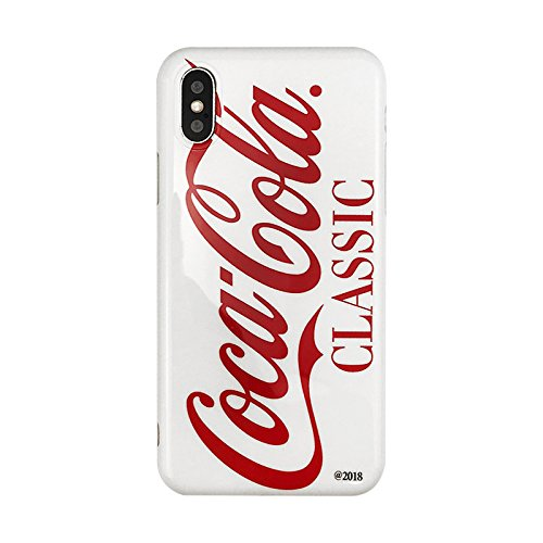 Soft TPU Red Cocacola Can Case for Apple iPhone X iPhoneX White Classic Coca Cola Shape Summer Smooth Ultra Slim Fit Girls Vivid Protective Cool Hot Latest Fun Creative Unique Men Guys Boys Girls