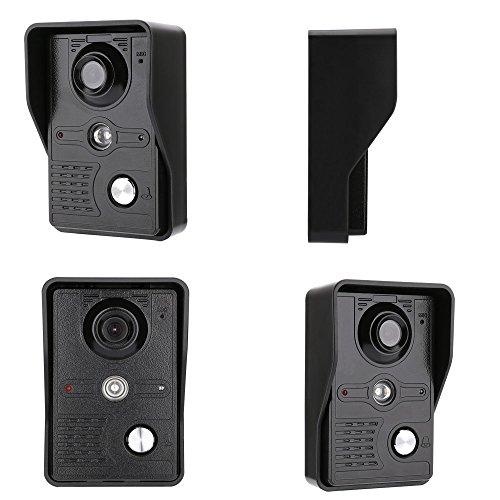 GAMWATER 7 Inch Video Door Phone Doorbell Intercom Kit 1-camera 2-monitor Night Vision with IR-CUT HD 1000TVL Camera Handfree intercom by GAMWATER (Image #4)