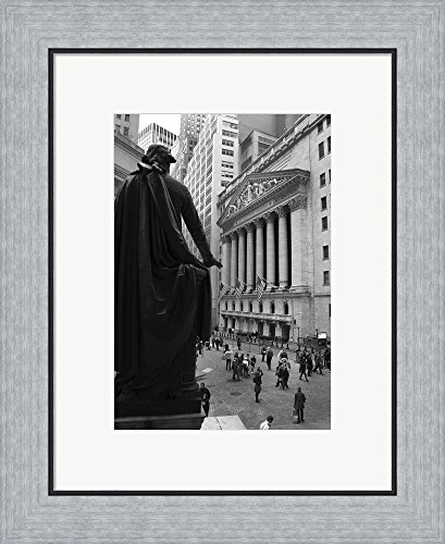 Wall Street 3 by Christopher Bliss Framed Art Print Wall Picture, Flat Silver Frame, 17 x 20 inches Bliss Framed Print