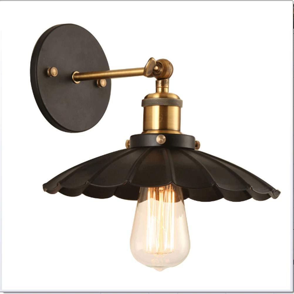 BIN Lampada da Parete Retro Ferro Muro Luce in Stile Country Europa E America Applique Lotus, con Fonte di Luce,25