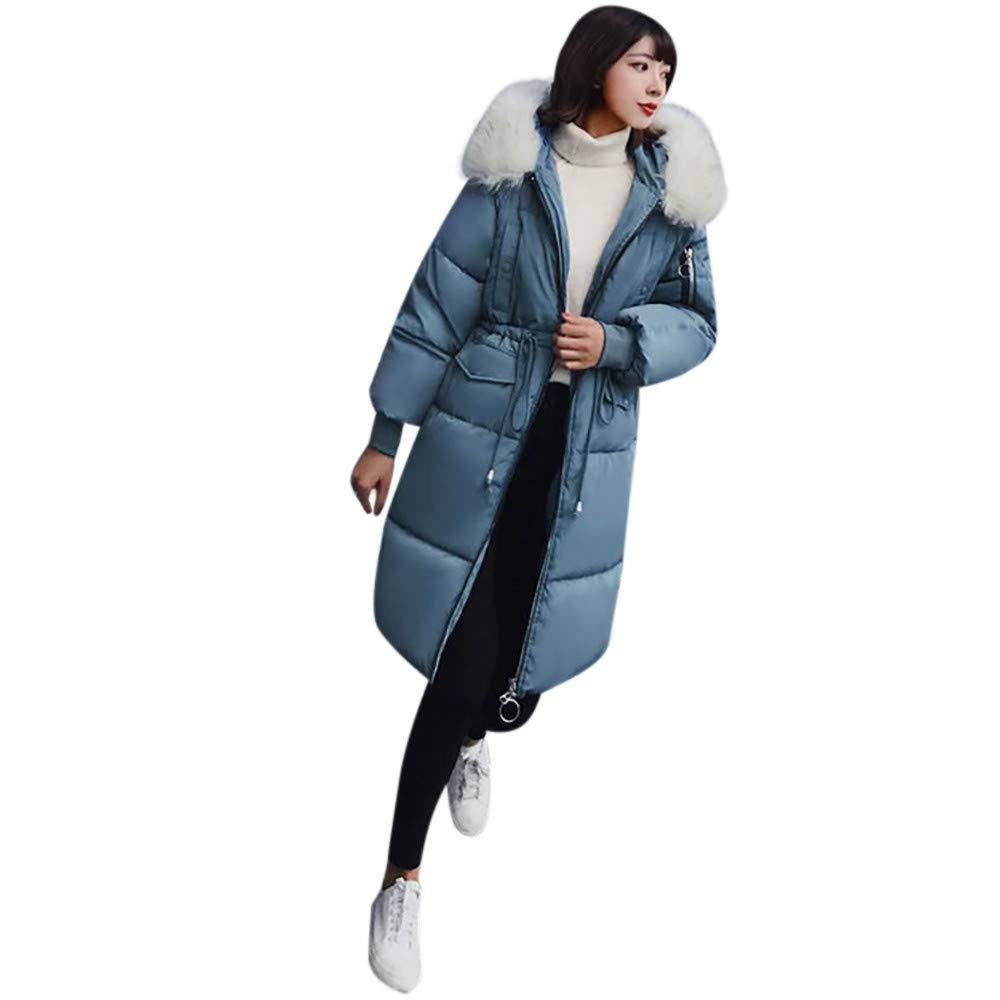 Seaintheson Women's Coats OUTERWEAR レディース B07HRG7QND X-Large|ブルー ブルー X-Large