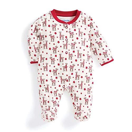 Jojo Maman Bebé Bebé Navidad Reno Pijama Pelele Footie 0-18 Meses ...