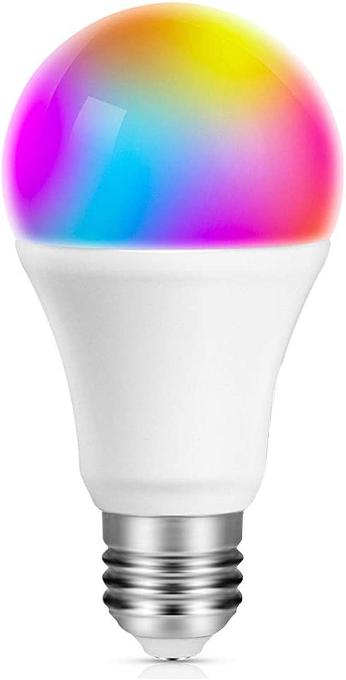 OFFONG Smart Light Bulb, WiFi Bulbs Compatible with Alexa and Apple HomeKit (iOS 13+),Google Home, RGB Color Changing & Dimmable A19 LED Lights Bulbs, 8.5W(60W Equivalentt), No Hub Required