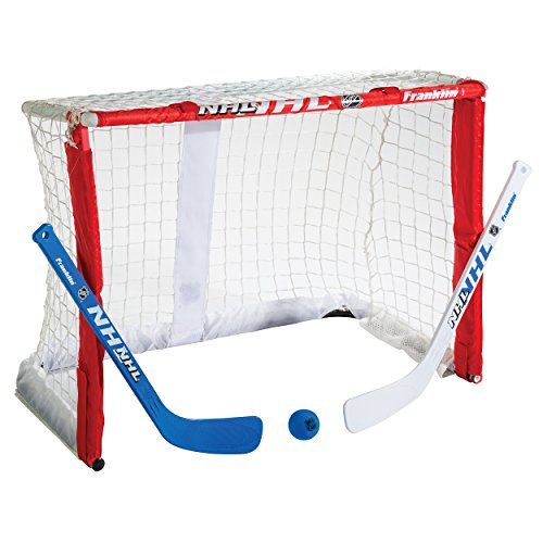 Franklin Sports Mini Hockey Goal Set – NHL – 26 inches – Fold-N-Go – DiZiSports Store