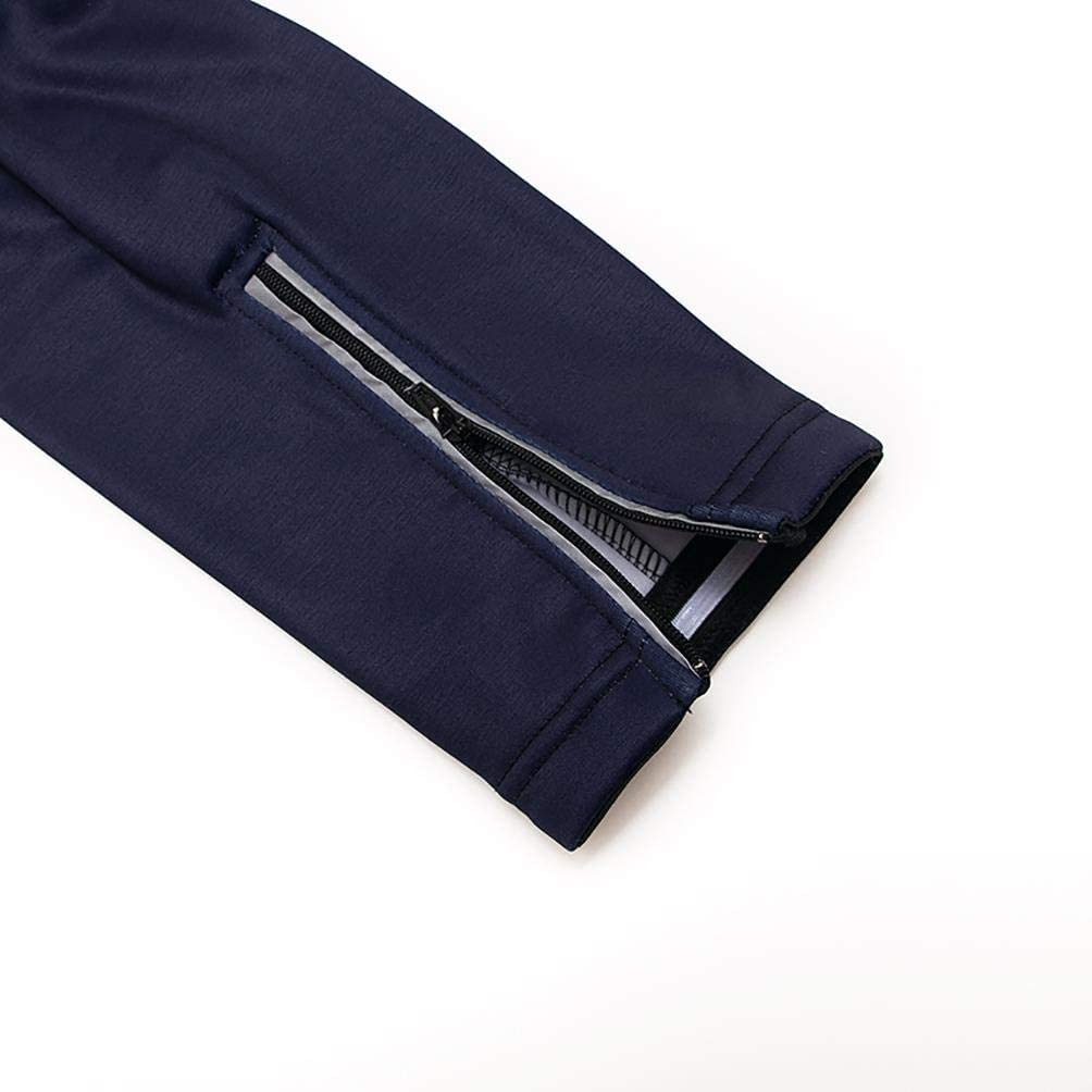 20D de Manga Larga Pantalones,A Prueba de Viento Moxilyn Traje Jerseys de Ciclismo para Hombre,Conjunto Ropa de Ciclo Manga Larga,Pantalones Acolchados Top Transpirable y Que Absorbe El Sudor
