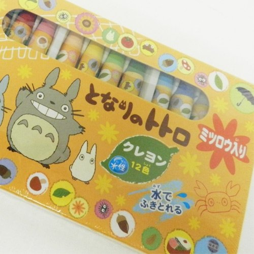 Ghibli My Neighbor Totoro water-base crayons with beeswax ( 12 colors) From Japan New (Costume Store Near My Location)