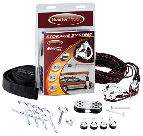 Hoister Direct 7806.12 - Overhead Storage Hoist for Jeep Top Removal, Truck Caps, Bikes, SUP, Dinghies, Canoes, Kayaks, Surfboards and More. Mount in Your Garage, Shop, Anywhere with a Ceiling. ()