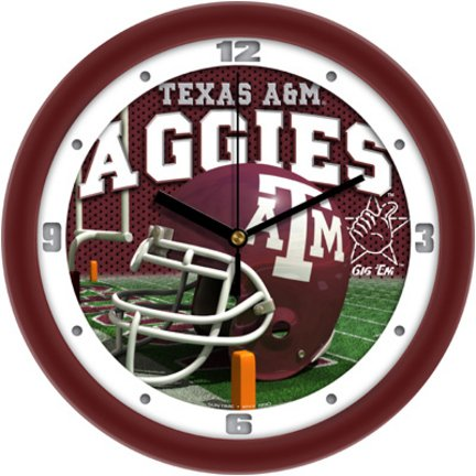 SunTime NCAA Texas A&M Aggies Helmet Wall Clock