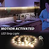 Motion Activated LED Strip Lights,Derlson Motion sensor LED Night light for Cabinet Closet,Kitchen Counter,Bathroom, Bedroom, Laundry,Wardrobe [ USB Rechargeable 1100 Mah battery, 39 Inch ]