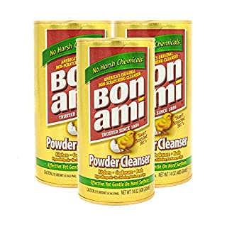 Bon Ami Powder Cleanser for Kitchens & Bathrooms - All Types of Surfaces, Cleans Grime & Dirt, Polishes Surfaces, Absorbs Odors (3 Pack)