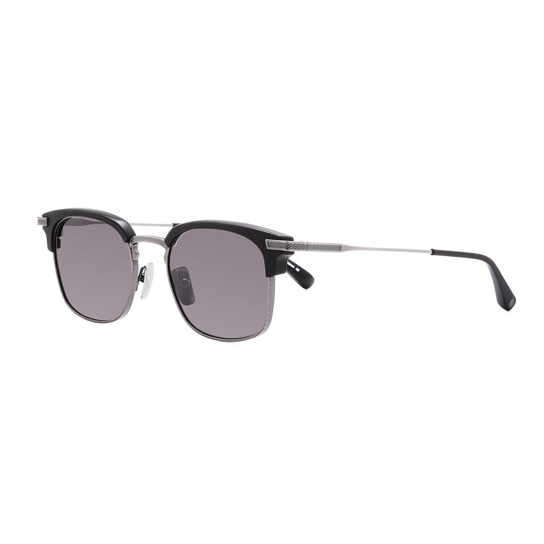 6be2444f05 Dita Nomad Sunglasses DRX 2080A Matte Black Antique Silver Frame Dark Grey  Lens  Dita  Amazon.co.uk  Clothing