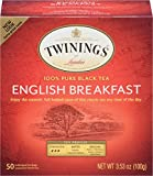 Twinings of London English Breakfast Tea, 50 Count